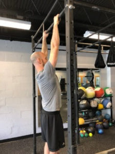 Dr. Cohen demonstrating a pullup hang