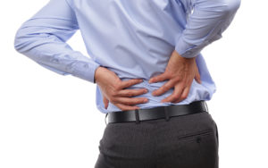image of man with back pain