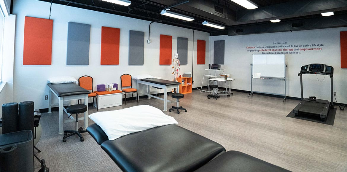 Picture of the inside of the therapy treatment room