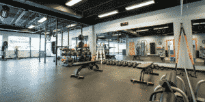 interior weight room of Cohen Health and Performance